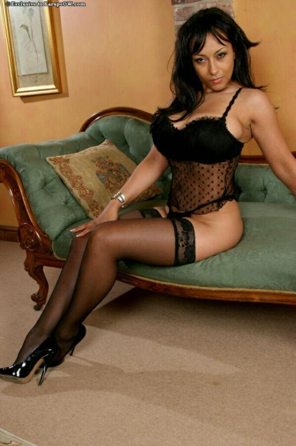 Black lingerie fits Danica Collins perfectly