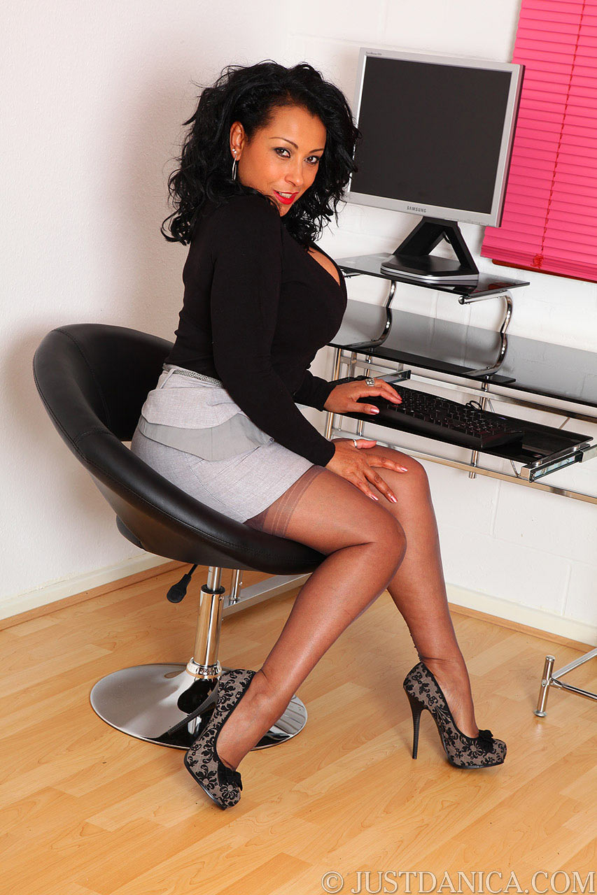 Slutty secretary Danica Collins is looking forward for the promotion