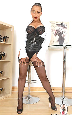 Classy MILF Danica Collins in nylons