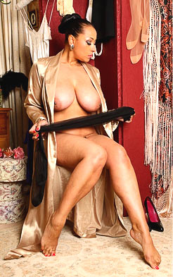Naked MILF Danica Collins wearing a robe