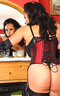 Danica Collins prefers her corset to be tight