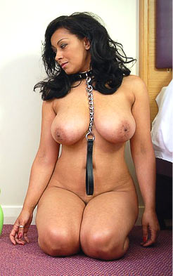 Leashed and collared petgirl Danica Collins