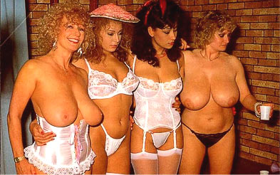 Picture of Donna Ambrose wearing white lingerie