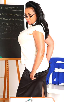 Erotic dream about sexy teacher stripping